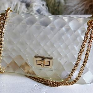 Handbags - NWT Luxury Handbag Jelly Clear Crossbody SATCHEL